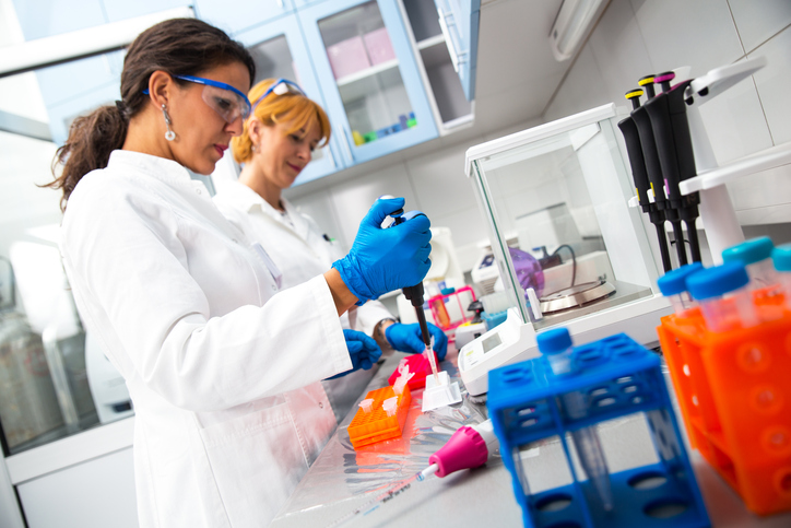 Real female scientists researching